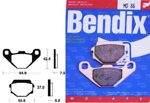 Compatible avec TGB BLADE-TARGET-PLAQUETTES DE FREIN TECNIUM ARRIERE-MO86